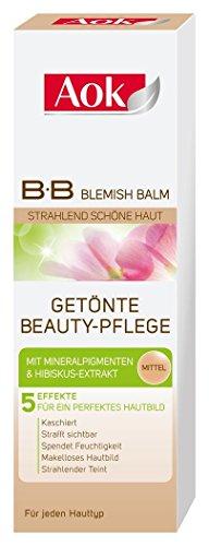 2x Aok getönte Beauty-Pflege/ 5 Effekte/ je 50ml/ Blemish Balm/ BB Creme/für jeden Hauttyp/ für ein perfektes Hautbild/ Mittel