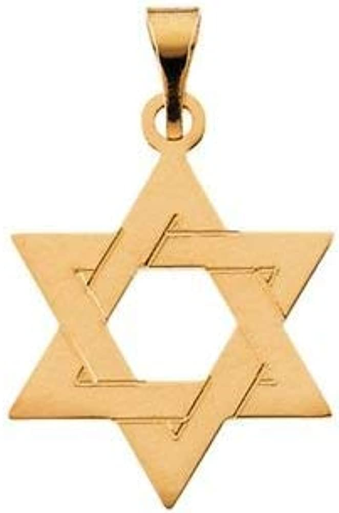 Jewels By Lux 14K Yellow Gold 32x26mm Star of David Pendant