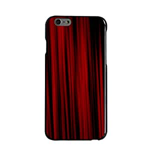 """CUSTOM Black Hard Plastic Snap-On Case for Apple iPhone 6 (4.7"""" Model) - Bright Red Curtains"""