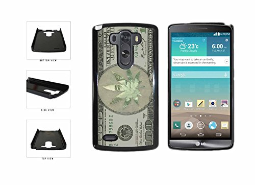 Funny Money Marijuana Weed Leaf Plastic Phone Case Back Cover LG G3 comes with Security Tag and MyPhone Designs(TM) Cleaning Cloth