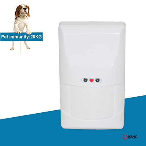 Detector Pet Immunity Pir (JC 433MHz Wireless Digital PIR Detector, Motion Detector Sensor with PET Immunity Max 44lb(20kg) for Home Business Alarm System Indoor Easy Use)