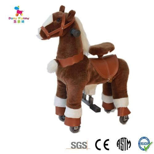 Chocolate Brown SMALL Trotting Action Horse Pony Ages 2-5 Boys & Girl Ride on Cycle Giddy Up Cowboy! by TODDLER TOYS by TODDLER TOYS