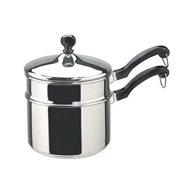 Meyer Cookware 50057 Saucepan, With Double Boiler Lid, Aluminum/Stainless Steel, 2-Qts.