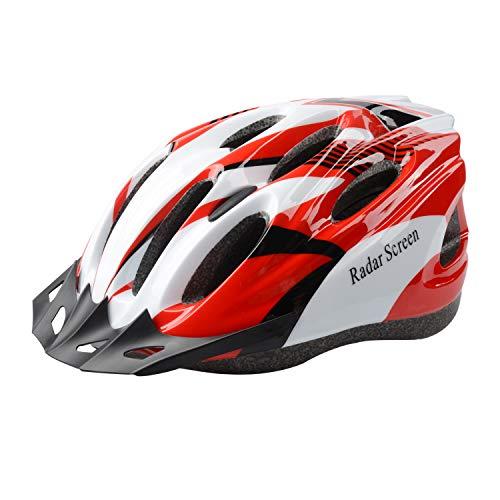 Radar Screen Adult Bike Helmet for Men Women Bicycle Helmets with Removable Visor & Adjustable Dial & Removable Liner