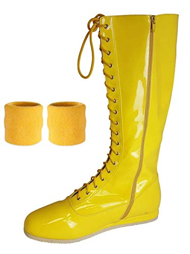 Pro Wrestling Costumes Mens Boots - Pro Wrestling Costume Boots with Matching