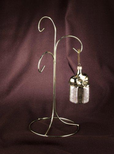 Brass Plated 3 Arm Ornament Stand by (Arm Ornament Stand)