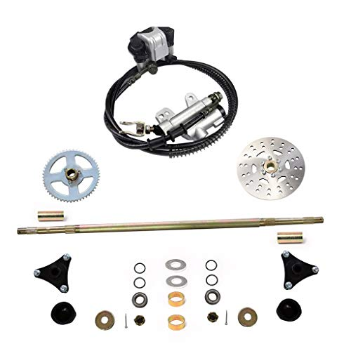 WPHMOTO Rear Axle Assembly Complete Wheel Hub Kit & Brake Assembly for Go Kart Mini Kids ATV Quad