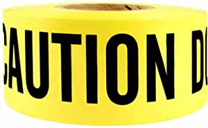Swanson BT330YCAUDNE3 3-Inch by 300-Feet 3-MIL Barricade Tape with Caution Do Not Enter Yellow/Black Print