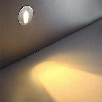 WaaiSo Las Luces Led Para Escaleras Apliques De Luz Esquina Hotel Club Premium Funciona Luz Blanca Cálida ,1W,: Amazon.es: Iluminación