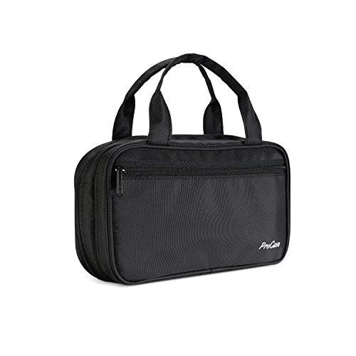 - ProCase Portable Makeup Brush Holder Organizer Cosmetic Bag, Compact Makeup Handbag Pouch for Travel & Home –Black