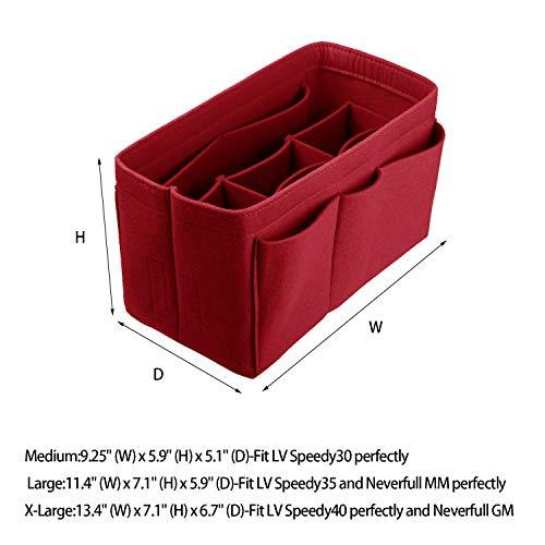 Felt(3MM) Fabric Purse Organizer Insert for Purse Handbag Tote Bag, 3 Sizes, 8 Colors by ETTP (Image #1)