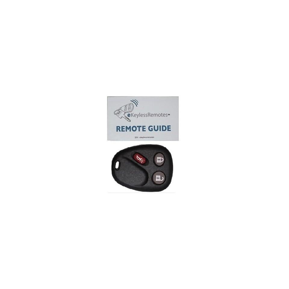 2006 Pontiac Torrent Keyless Entry Remote Fob Clicker + eKeylessRemotes Guide (Must be programmed by Dealer or Locksmith)