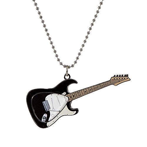 PickWorld Pick-Lace PLC-KSTR Guitar Pick Holder Necklace/Key Ring, Black Electric]()