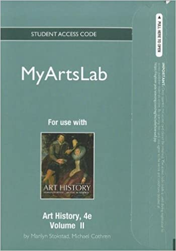 new myartslab student access code card for art history volume 2 standalone 4th edition