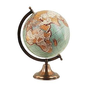 Art Deco Home – Globo Terraqueo 20 centimetros Bola del Mundo Interactivo Mapa Vintage
