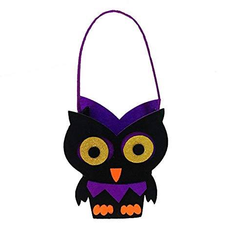 Halloween Candy Bags Trick or Treat Candy Tote Bags Cartoon Pumpkin Bag for Kids Halloween Themed Party Gift Favor