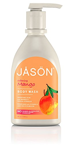 JASON NATURAL Products Satin Shower Body Wash Mango & Papaya 30 oz