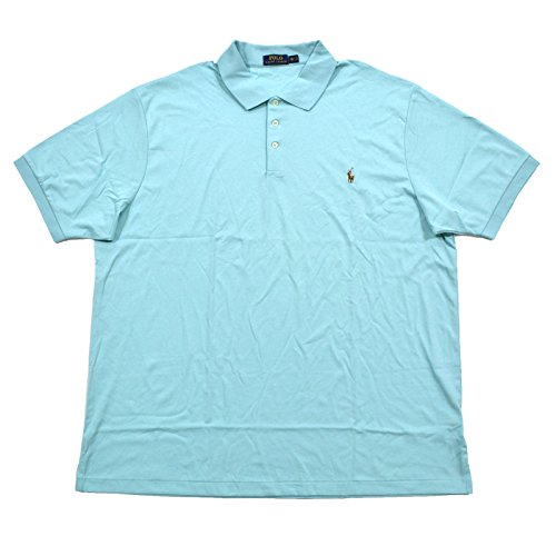 (Polo Ralph Lauren Men's Big and Tall Short Sleeve Pima Soft-Touch Polo Shirt (2X Big, Adirondack Lake))