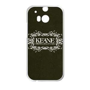 KEANE esperanzas y temores a la Mejor funda HTC uno M8 caja del teléfono celular Funda cubierta blanca