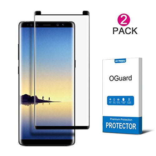 [2-PACK] OGuard Galaxy Note 8 Tempered Glass Screen Protector, 3D Curved [Bubble Free, Case Friendly], Premium Japan Material [2017] (Note 8 (2 pcs))