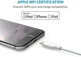 Anker PowerLine 10ft Lightning Cable, MFi Certified for iPhone XS / XS Max / XR / X / 8 / 8 Plus / 7 / 7 Plus / 6 /6 Plus / 5s / iPad, and More ...