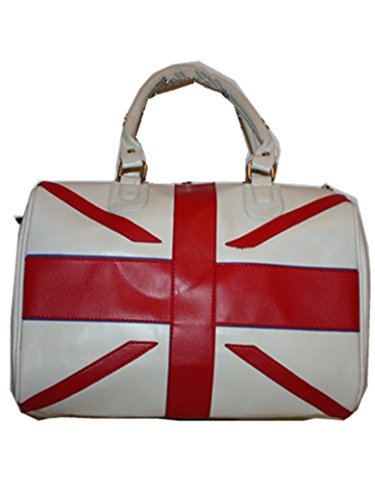Duffel HD06 Hold Union all Jack Fashion British Handbag Travel Flag Shoulder White vvBxYw