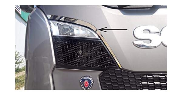 2 embellecedores de ventilación superior de acero inoxidable para Scania S Series 2016>: Amazon.es: Coche y moto