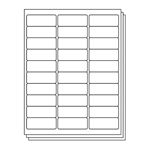 (OfficeSmartLabels Rectangular 1 x 2-5/8 Address/Mailing Labels for Laser & Inkjet Printers, 1 x 2.625 Inch, 30 per sheet, White, 4500 Labels, 150 Sheets)