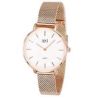 ASJ 2018 Fashion Women's Simple Design Luxury Analog Quartz Wrist Watches with Magnetic Band (Rose Gold2)
