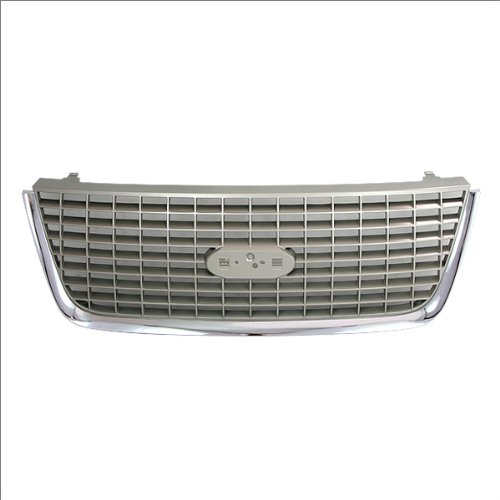 CarPartsDepot, SUV 4-Door Front Grill Grille Replacement Plastic Chrome/Argent Assembly, 400-18234 FO1200400 2L1Z8200BAA Chrome Argent Grille Grill