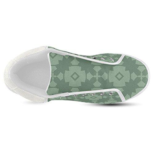 Scarpe Da Ginnastica Per Uomo Modello Artsadd Verde Geometrico Modello Chukka (model003)