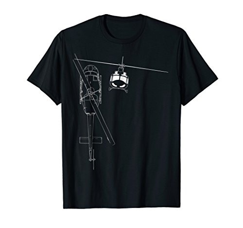 UH-1 Huey Helicopter Line Art T-shirt for sale  Delivered anywhere in USA