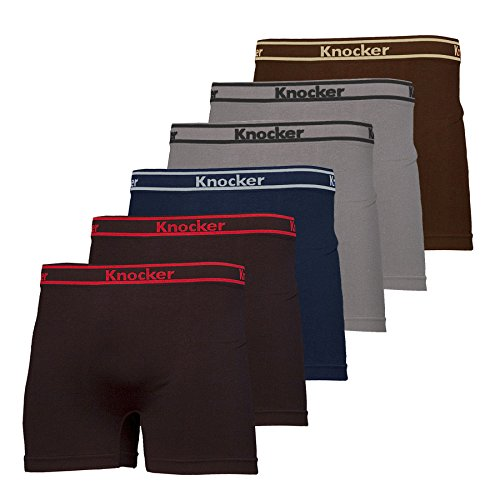 Nylon Stretchable Boxer Brief 6-pcs 5-pcs Set, Assorted Colors (Waist Lines)