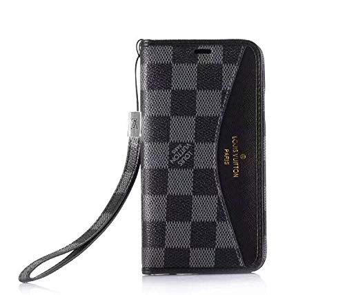 Phone Case for iPhone X iPhone Xs, Wallet with Lanyard Classic Monogram Elegant Luxury Fashion Designer Case Case with Card Holder for iPhone X 14 iPhone Xs - US Fast - Iphone Case Louis Wallet Vuitton