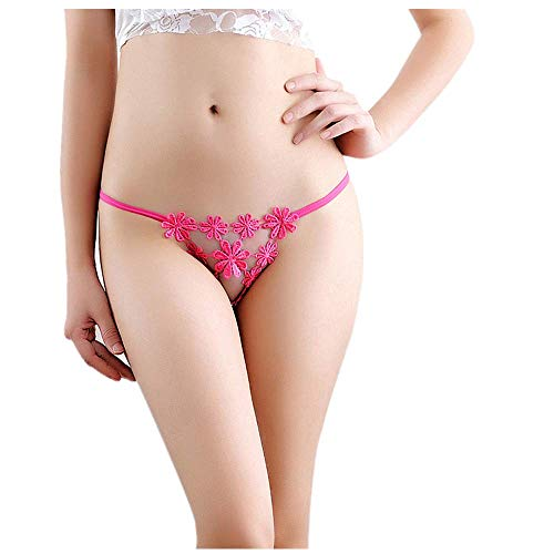 F_Gotal Sexy Underwear for Sex Womens Lace G-String Bowknot Panties Sexy Thongs Knickers Briefs
