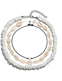 Cowrie Shell Necklace for Women Seashell Choker Necklace Set Puka Shell Necklace for Summer