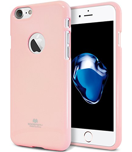 iPhone 7 Case, [Thin Slim] GOOSPERY [Flexible] Color Pearl Jelly Rubber TPU Case [Lightweight] Bumper Cover [Impact Resistant] for iPhone 7 (Pink) ()