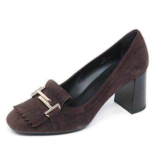 Tod's Marron Donna Suede Woman E4186 Decollete Frangia Scarpa T doppia Brown Shoe pOrpAUq