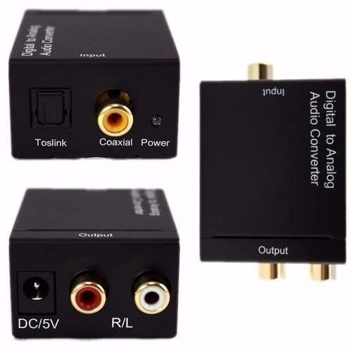 Modavela Convertidor Audio Digital Toslink Coaxial RCA Análogo USB Fu