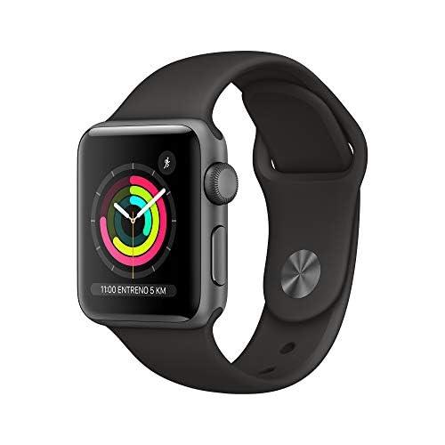chollos oferta descuentos barato Apple Watch Series 3 GPS 38mm Aluminio en Gris Espacial Correa Deportiva Negro