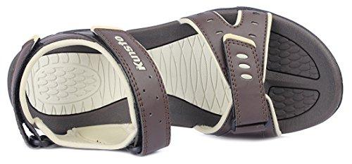 Kunsto Men's Sport Outdoor Sandal US Size 10 Brown by Kunsto (Image #3)