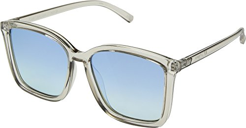 Le Specs Women's It Ain't Baroque Sunglasses, Shadow/Blue Grad Revo Mirror, One - Sunglasses Shadow