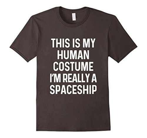 Space Needle Costume (Mens Funny Spaceship Costume Shirt Halloween Adults Kid Men Women XL Asphalt)