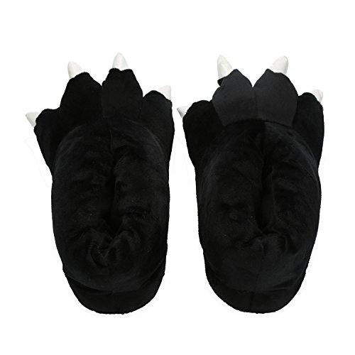 nbsp; en Animal Figure Très Chaussure Chic Noir Mailanda Slipper Hiver nbsp;Femme Peluche Pantoufle Souple TYxqH8xwBa