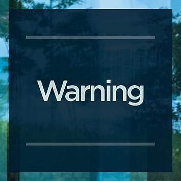 Basic Navy Clear Window Cling CGSignLab Warning 12x12