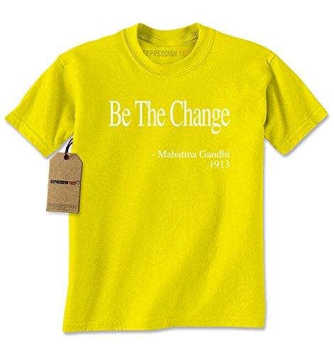 Change Yellow T-shirt (Mens Be The Change Gandhi Quote T-Shirt Small Yellow)