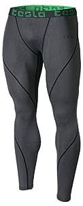 Tesla Men's Compression Pants Baselayer Cool Dry Sports Tights Leggings P16 / MUP09 / MUP19