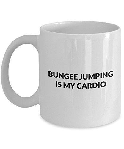 Bungee jumping Mug - Bungee jumping is my cardio - White Ceramic Coffee Mug 11oz 15oz