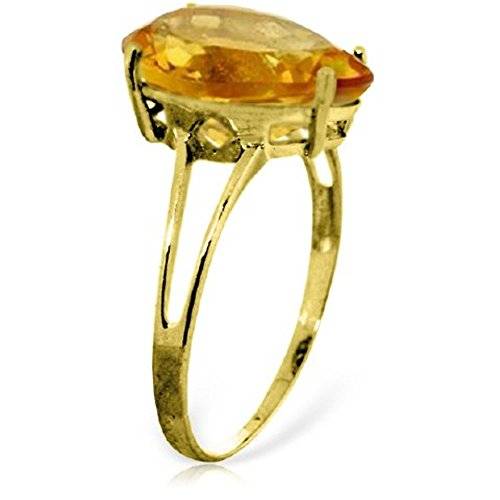 14k Yellow Gold Ring with Pear-shaped Citrine Ring - Size 7.0