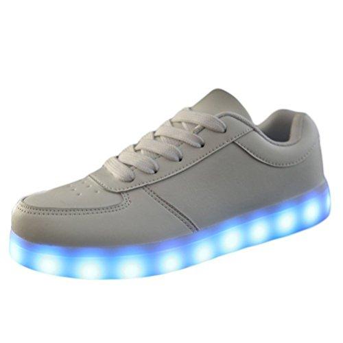 (Presente:pequeña toalla)JUNGLEST USB Carga de la Zapatilla Zapatillas de Deporte Con 7 Colores de Iluminación LED Intermitente Para los Amantes de N c28